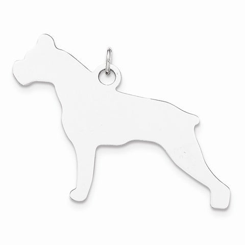 SS Toni Tails Engraveable Medium Boxer Disc Charm