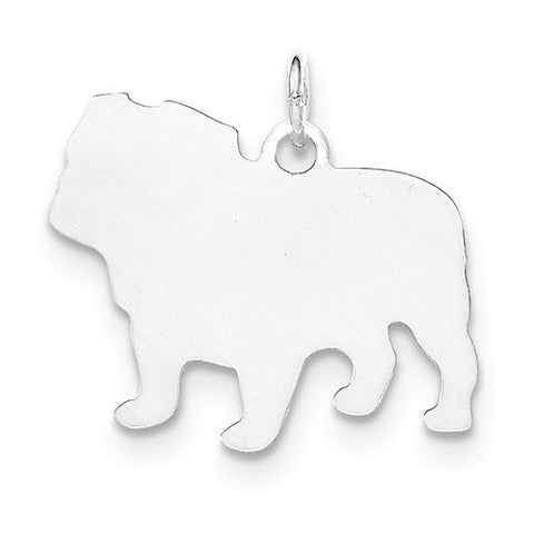 SS Toni Tails Engraveable Small Bull Dog Disc Charm