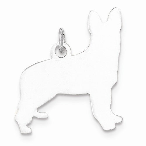 SS Toni Tails Engraveable Small German Shepherd Disc Charm