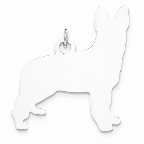 SS Toni Tails Engraveable Medium German Shepherd Disc Charm