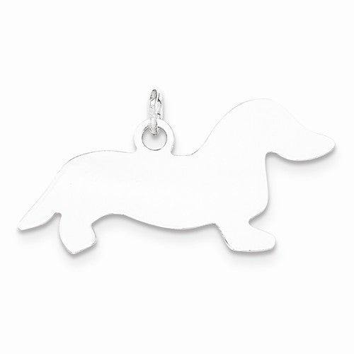 SS Toni Tails Engraveable Small Dachshund Disc Charm