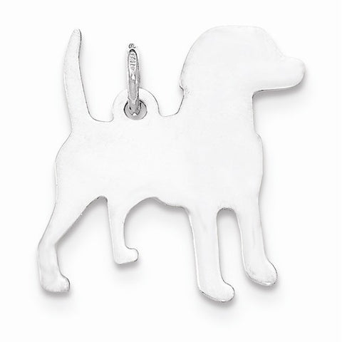 SS Toni Tails Engraveable Small Beagle Disc Charm