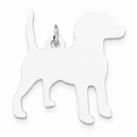 SS Toni Tails Engraveable Medium Beagle Disc Charm