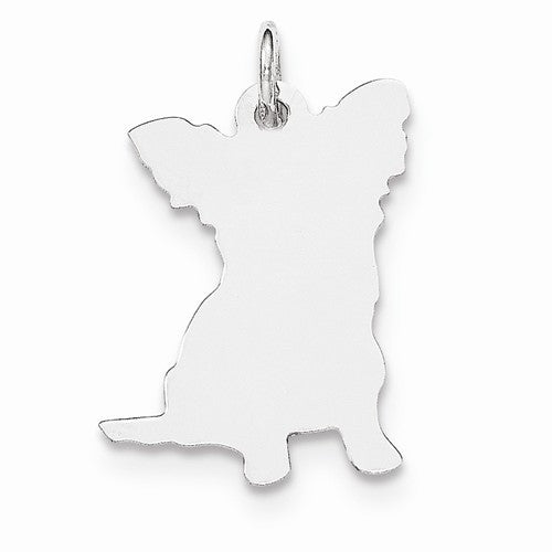 SS Toni Tails Engraveable Small Papillon Disc Charm
