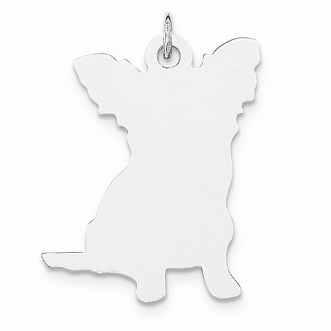 SS Toni Tails Engraveable Medium Papillon Disc Charm