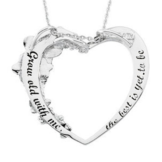 Grow Old With Me™ Heart Necklace