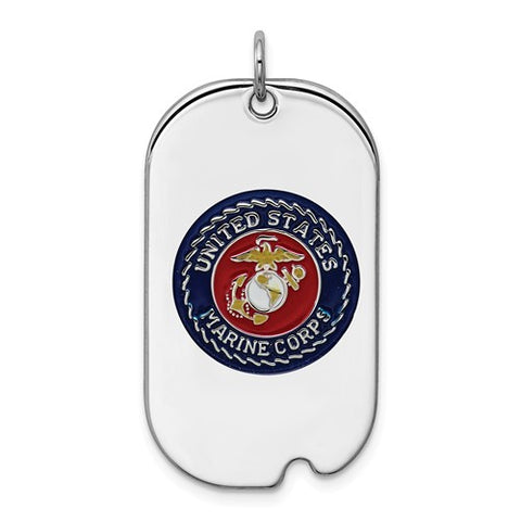 Sterling Silver US Marine Corp Tag