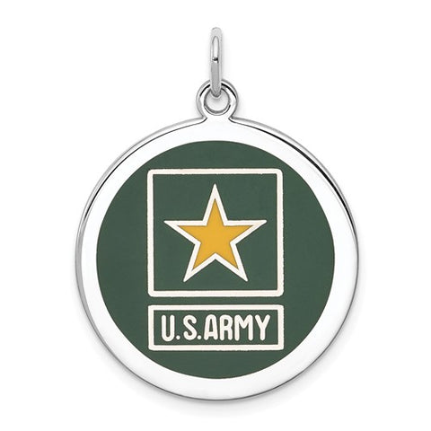Sterling Silver US Army Star Disc