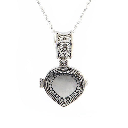Teardrop Locket Pendant W/Chain