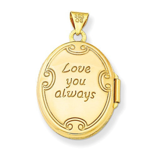 14k Love You Always Reversible Locket