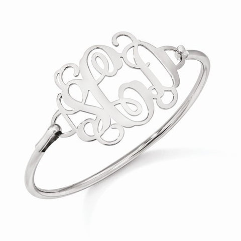 Polished Monogram Bangle Bracelet