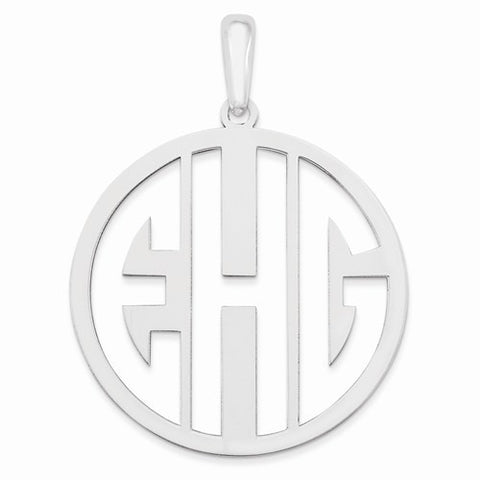 Laser High Polished Monogram Pendant