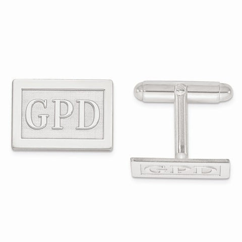Raised Letters Monogram Cuff Links