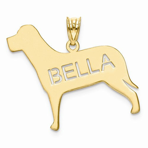 Gold Plated/SS Dog Name Pendant