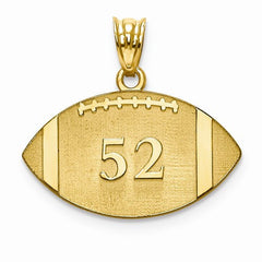 Gold Plated/SS Laser Football Number And Name Pendant