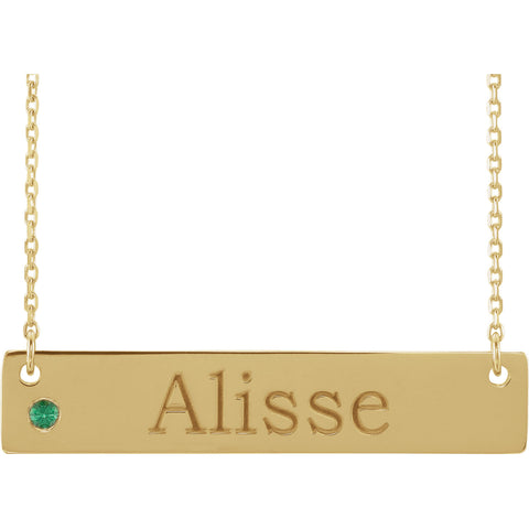 14K Gold Birthstone Necklace Mounting