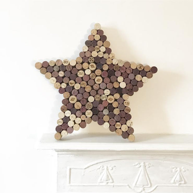 Recycled Wine Cork Memo Board - Star
