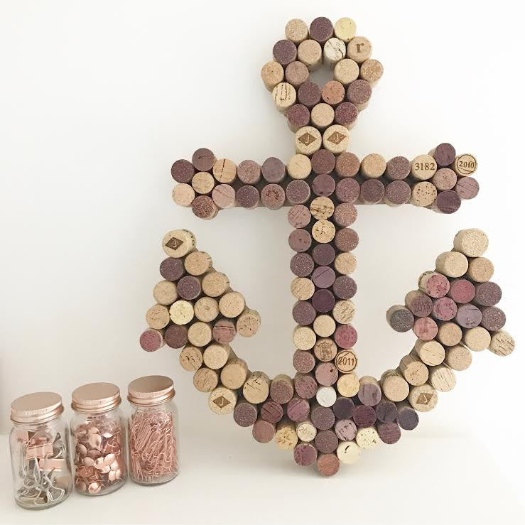 Recycled Wine Cork Memo Board - Anchor