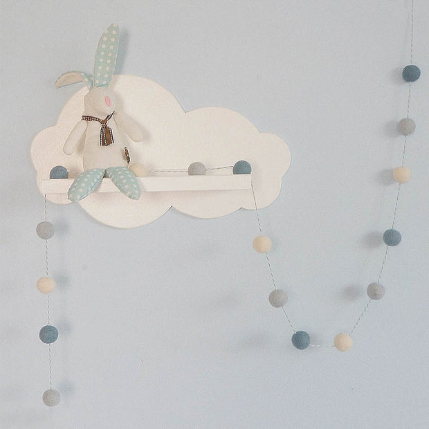 Felt Ball Pom Pom Garland - Baby Blues