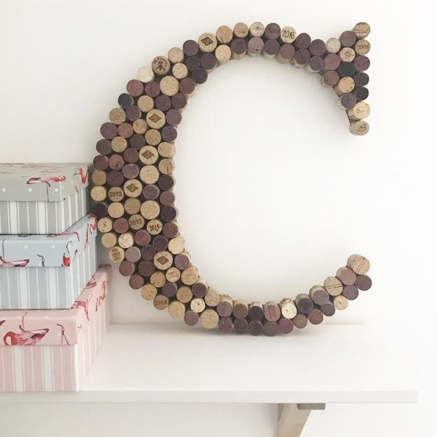 Recycled Wine Cork Memo Board - Large Letter