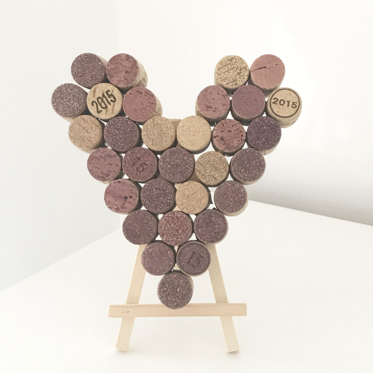 Recycled Wine Cork Small Heart Decoration