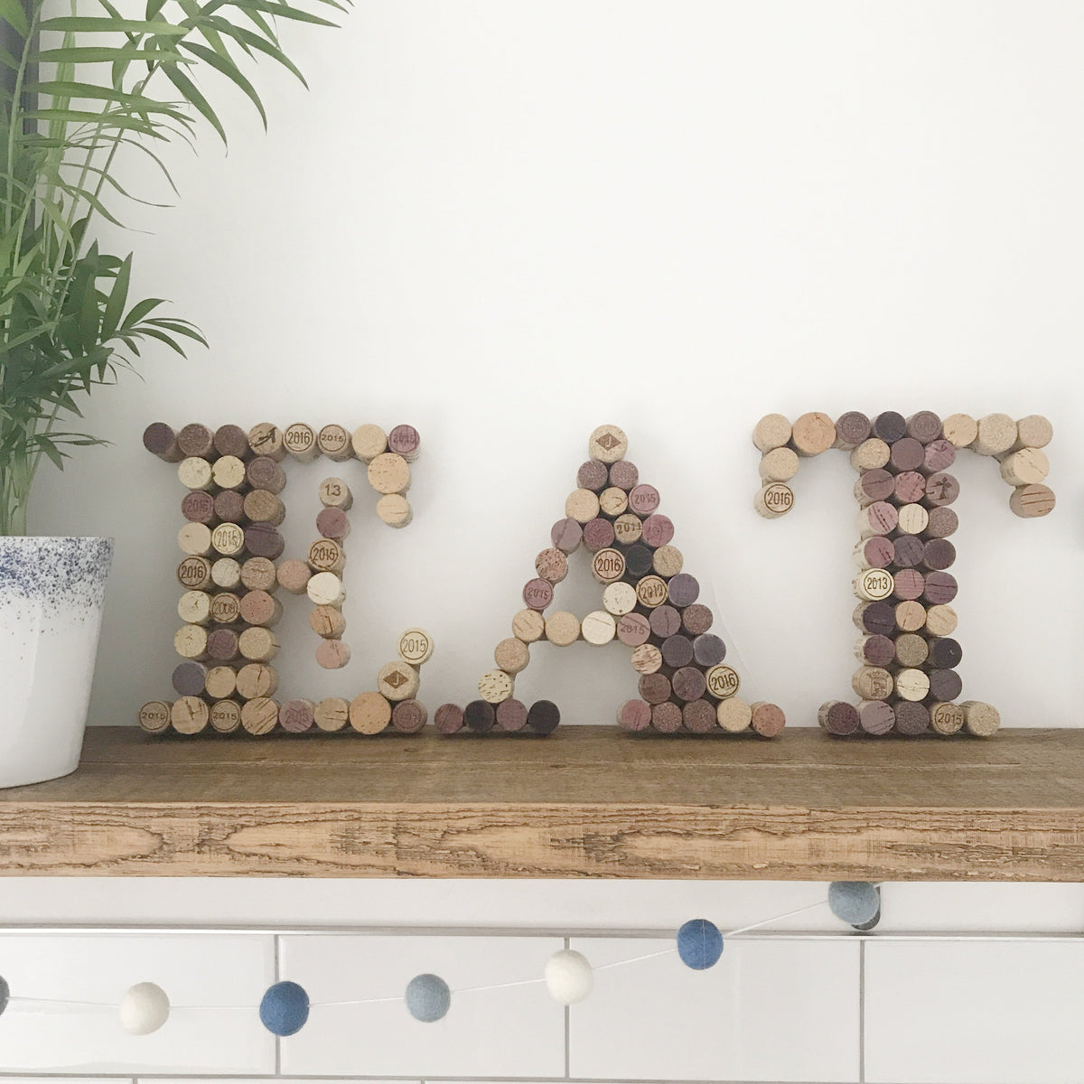 Recycled Wine Cork Letters - Small