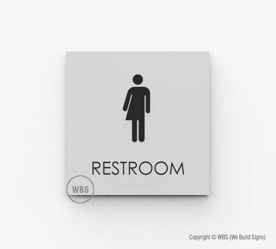California Restroom Sign
