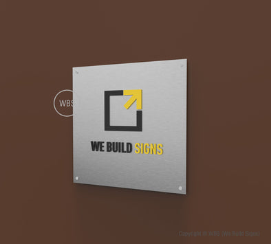 Square Aluminum Lobby Sign - SLS 02 - WeBuildSigns (WBS)