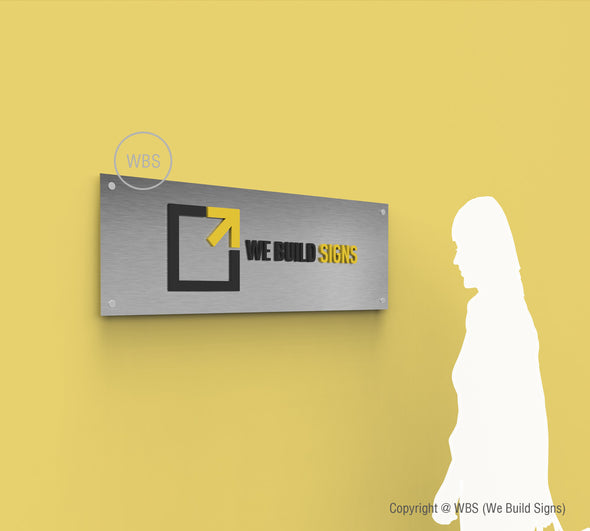 Horizontal Aluminum Lobby Signs - HLS 02 - WeBuildSigns (WBS)