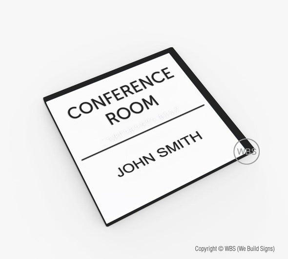 Conference Room Sign - Meeting Room Signage - BAR 01 - WeBuildSigns (WBS)