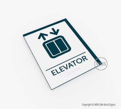Elevator Sign - BAR 03 - WeBuildSigns (WBS)