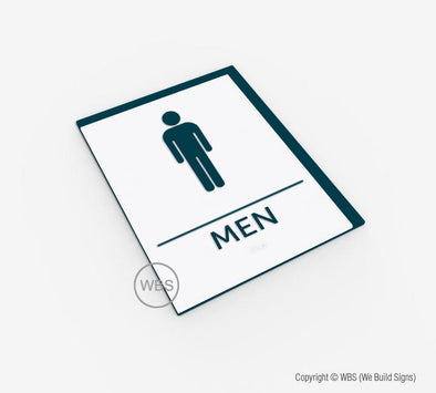 Men's Restroom Sign - BAR 06 - WeBuildSigns (WBS)