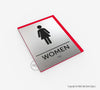 Women's Restroom Sign - BAR 07 - WeBuildSigns (WBS)