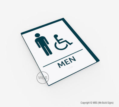 Men's Handicap Restroom ADA Sign - BAR 15 - WeBuildSigns (WBS)