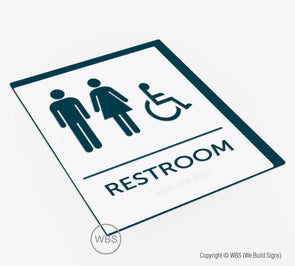 Unisex Handicap Restroom ADA Sign - BAR 18 - WeBuildSigns (WBS)