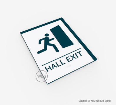 Hall Exit Sign - BAR 19 - WeBuildSigns (WBS)