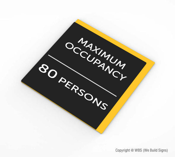 Maximum Occupancy Sign - BAR 21 - WeBuildSigns (WBS)