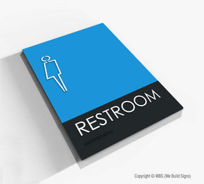 All-Gender Restroom Sign - BLA 01 - WeBuildSigns (WBS)