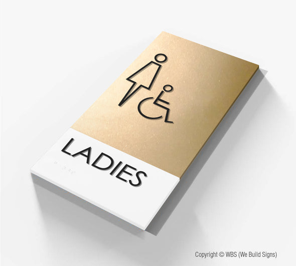 Ladies ADA Restroom Sign - BLA 10 - WeBuildSigns (WBS)