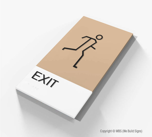 Exit Sign - BLA 12 - WeBuildSigns (WBS)