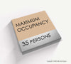 Maximum Occupancy Sign - BLA 16 - WeBuildSigns (WBS)