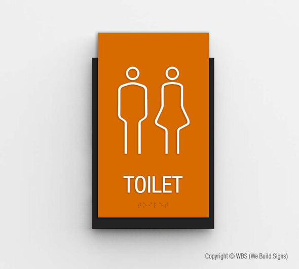 Unisex Toilet Sign - CLE 08 - WeBuildSigns (WBS)