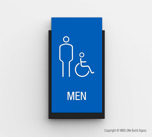 Men's Handicap Accessible Restroom Sign - CLE 10 - WeBuildSigns (WBS)