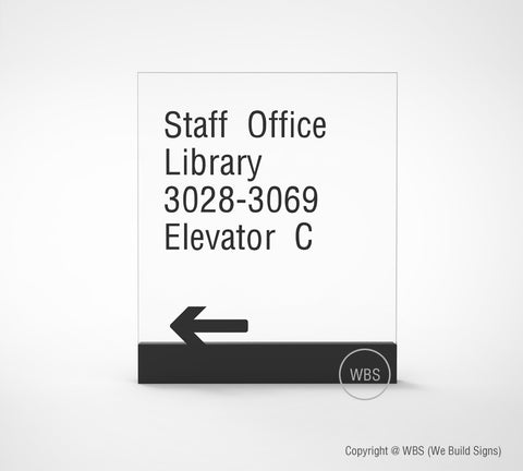 Directional Sign - PRE 01