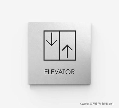 Elevator Sign - ECO 01 - WeBuildSigns (WBS)