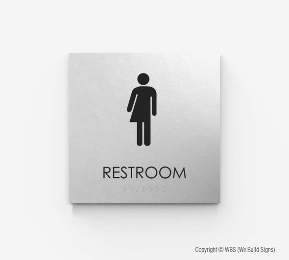 Gender Neutral Restroom Sign - ECO 02 - WeBuildSigns (WBS)