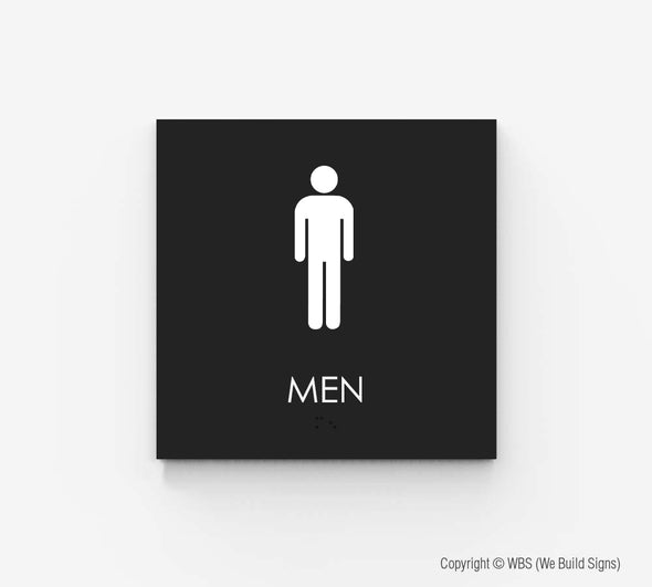 Men's Restroom Sign - ECO 03 - WeBuildSigns (WBS)