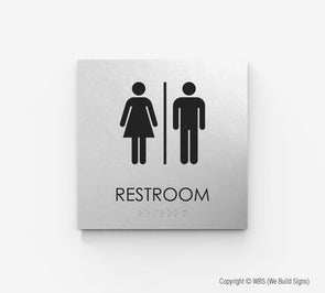 Unisex Restroom Sign - ECO 04 - WeBuildSigns (WBS)