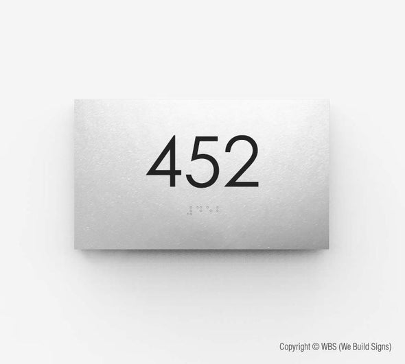 Room Number Sign - ECO 08 - WeBuildSigns (WBS)