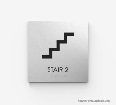 Stair Sign - ECO 10 - WeBuildSigns (WBS)